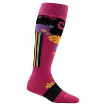 Darn Tough Women's Flowers Merino Wool OTC Ultra-light Socks
