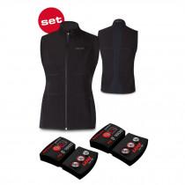 Lenz Women's Heat Vest 1.0 + Lithium pack rcB 1800