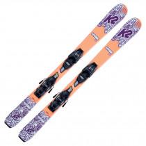 2022 K2 Girls Luv Bug Fastrak Skis w/ Marker FDT Bindings